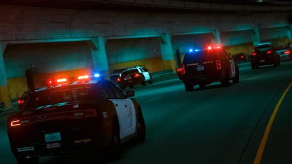 Pursuit in tunnel