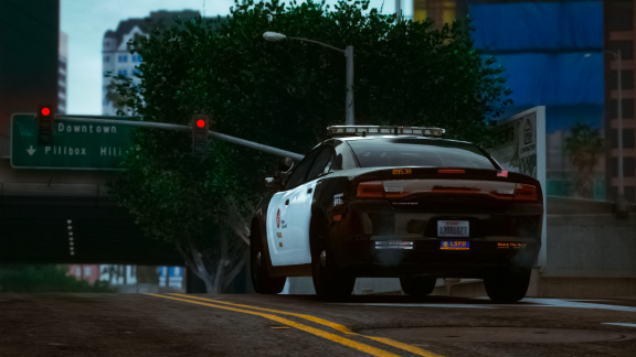 LSPD on the street of Los Santos